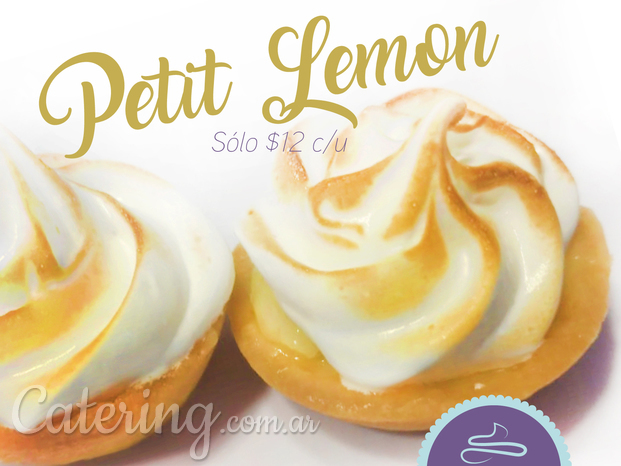 Petit fours lemon pie